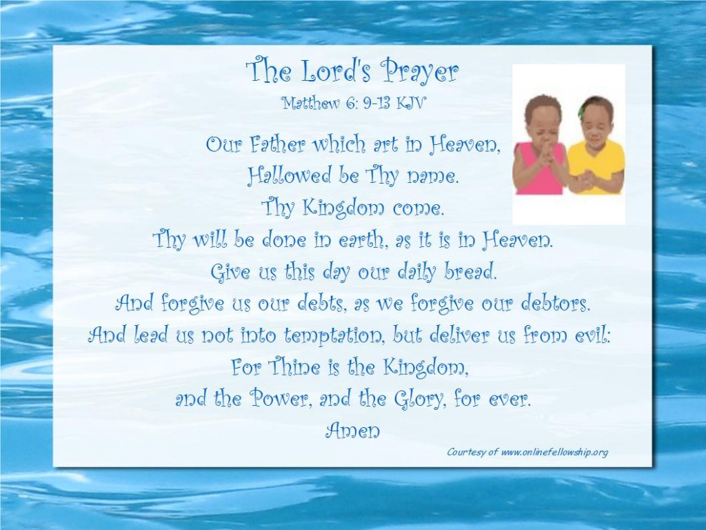 the lord u0027s prayer online fellowship