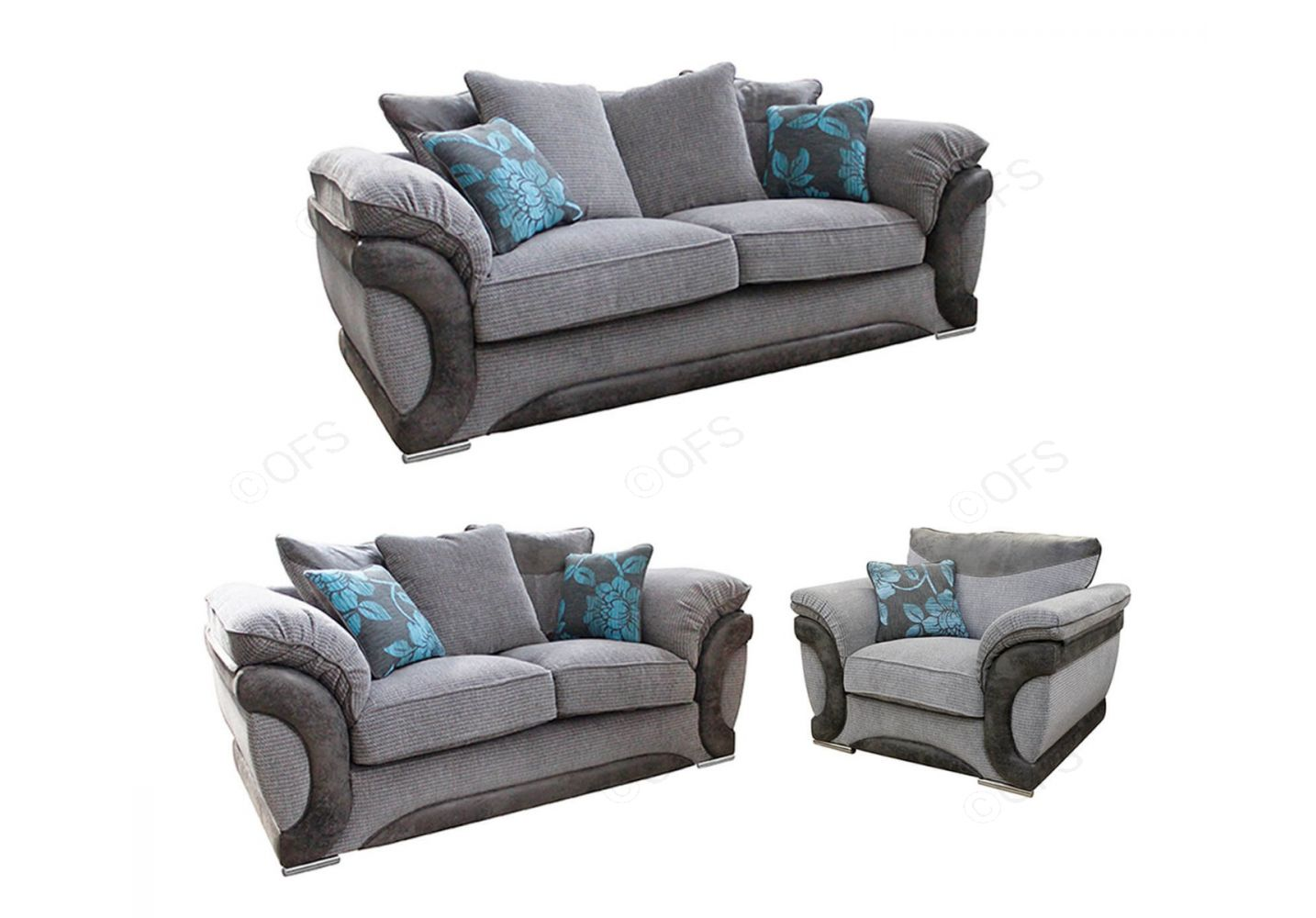 Buoyant Upholstery Omega Fabric 3 2 1 Sofa Set Onlinefurniturestore Co Uk