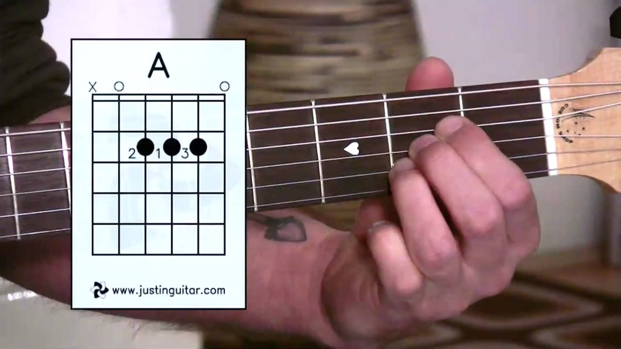 maxresdefault 3 - Beginner Guitar Lessons - Stage 1: The A Chord - Your Second Super Easy Guitar Chord [BC-112]
