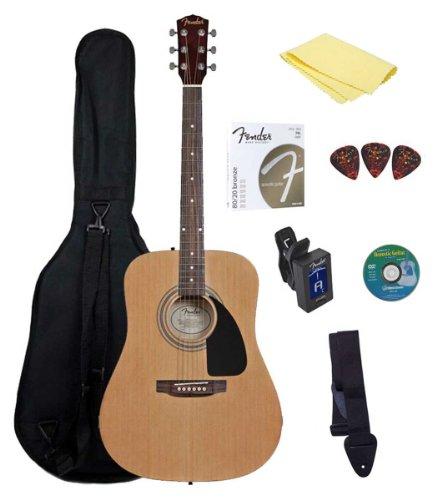 411RNEfccIL - Fender Starter Acoustic Guitar Pack