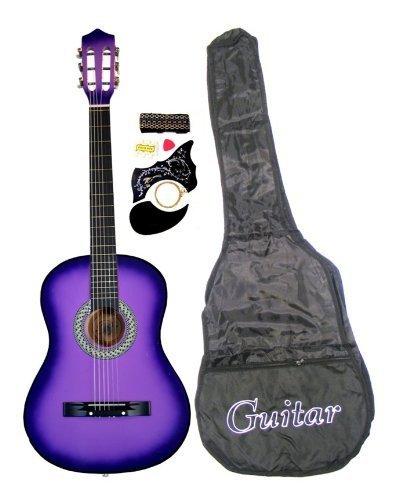 """41ud2dzEssL - 38"""" Acoustic Guitar Starter Package Guitar, Gig Bag, Strap, Pick & DirectlyCheap(TM) Translucent Blue Medium Guitar Pick (PL-AG38-1)"""