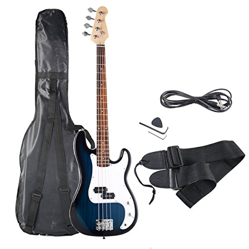 51dAVa1nHgL - Safstar Electric Bass Guitar Full Size 4 Strings with Amp Cord Strap Bag Package for Starter Beginners