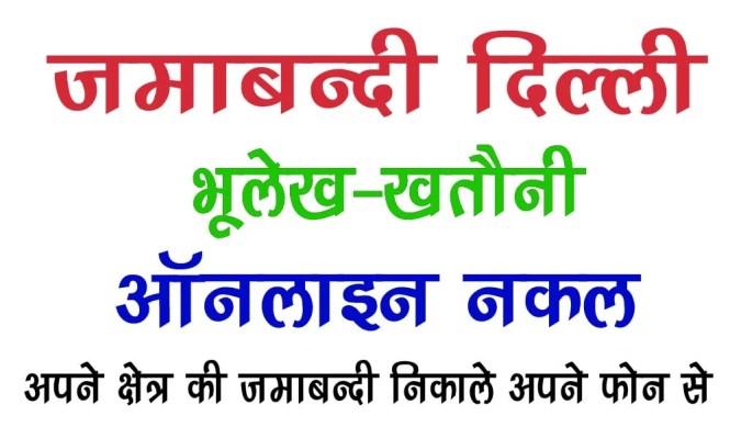 delhi jamabandi copy