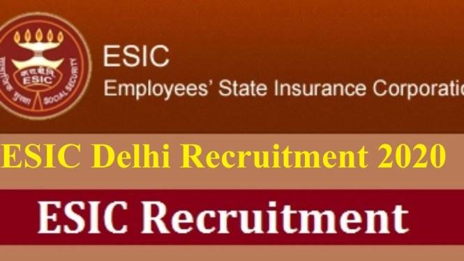 ESIC Delhi Recruitment