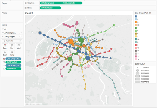 small resolution of the view is now complete you can quickly find the stations on each metro line with the most traffic