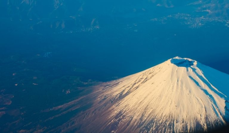 Japan volcano in hindi
