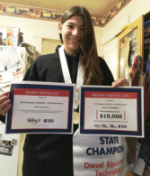Everett Online High School Student First Female To Win State Diesel Competition
