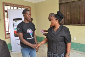 Read more about the article One of the best moments of #AfricaCodeWeek 2017 for us at Online Hub Educational Services in #OgunState #Nigeria today!