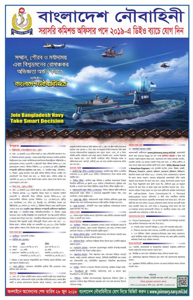 Bangladesh Navy Job Circular 2018