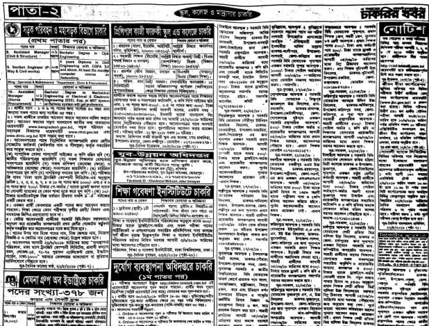 Weekly Jobs Newspaper Circular 25 May 2018 Download PDF 2