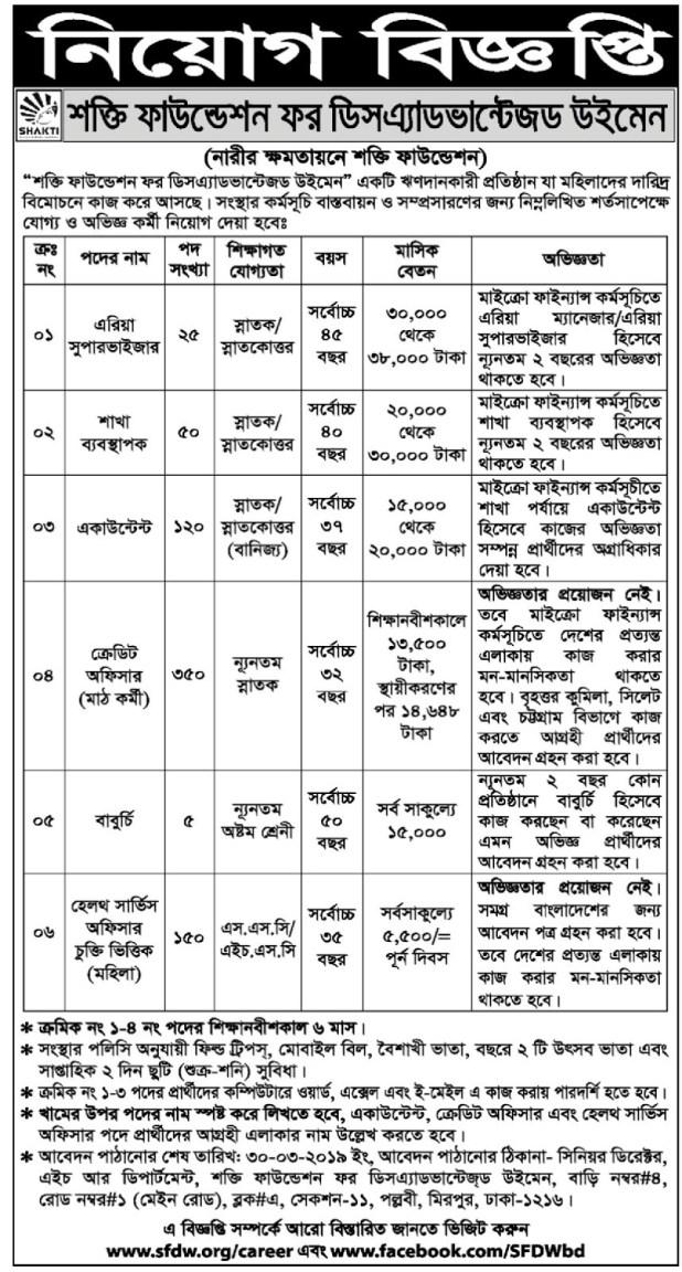 BD Jobs Shakti Foundation Job Circular NGO Job Circular Chakri