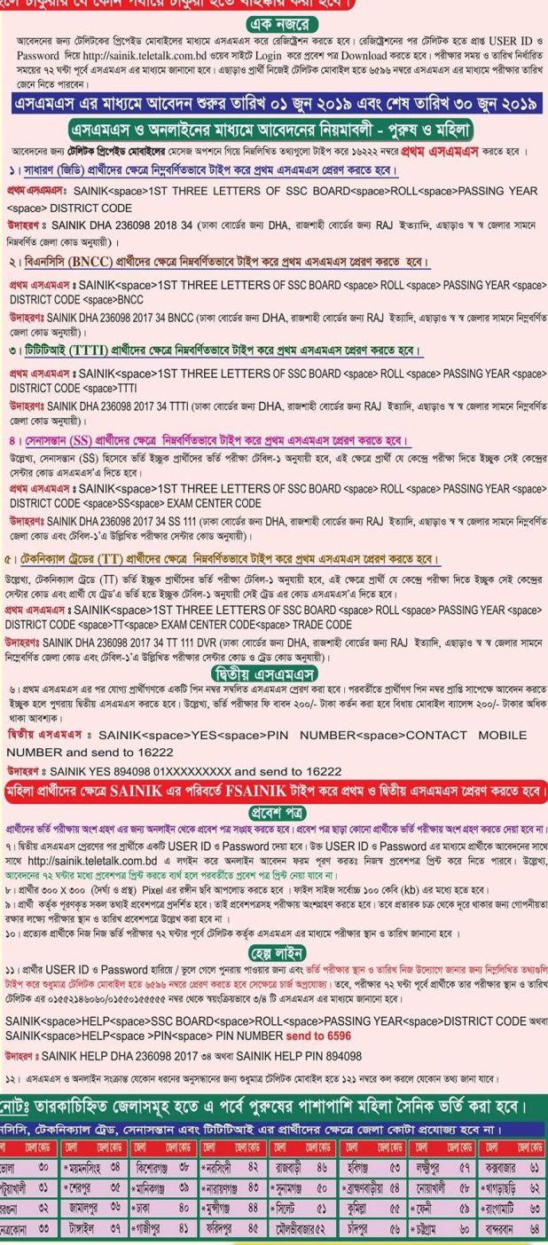 সারাদেশে সৈনিক পদে বিপুল সংখ্যাক জনবল নিয়োগের বিজ্ঞপ্তি প্রকাশ করেছে বাংলাদেশ সেনাবাহিনী