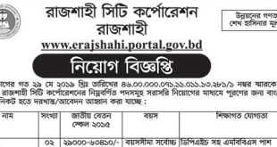 Rajshahi Development Authority rdaraj Job Circular 2019