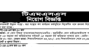 TMSS Job Circular 2019 bdjobs career