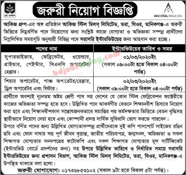 Akij Group Job Circular February 2020