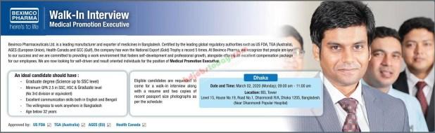 BEXIMCO Pharmaceuticals Ltd Job circular 2020