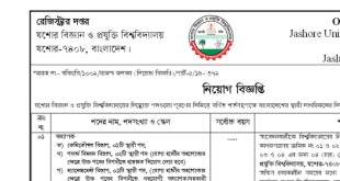 Jashore University of Science & Technology Job Circular 2020