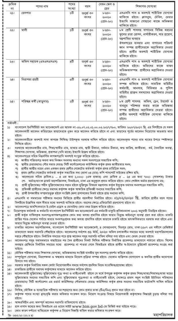 Ministry of Industries Job Circular 2020