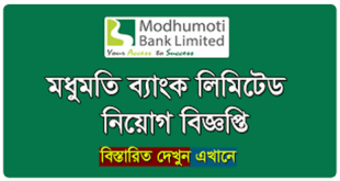 Modhumoti Bank Limited Job Circular 2020