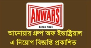 Anwar group job circular 2020