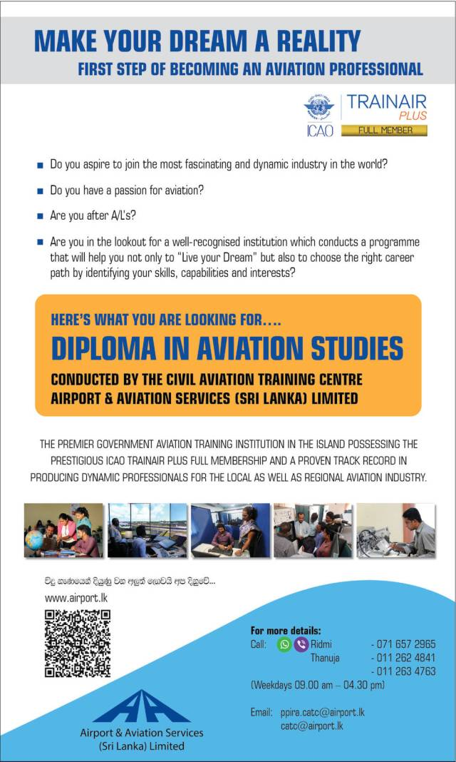 Diploma in Aviation Studies - Airport & Aviation Services (Sri Lanka) Limited