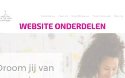De onderdelen van een website