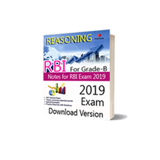 Download Pdf Notes of RBI For Grade-B Reasoning Download Version
