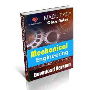 Download Mechanical Engineering IES MADE EASY CLASS NOTES