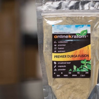 A custom blend of kratom powder that make the Durga Fusion