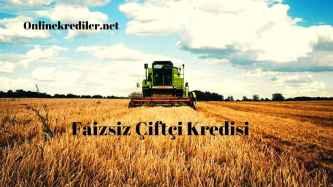 faizsiz çiftçi kredisi