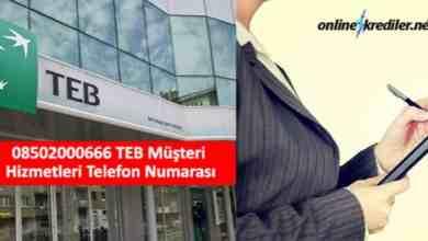 Photo of 08502000666 TEB Müşteri Hizmetleri Telefon Numarası