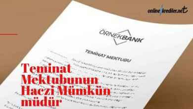 Photo of Teminat Mektubunun Haczi Mümkün Müdür