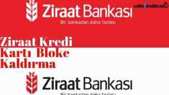 Ziraat Kredi Karti Bloke Kaldirma
