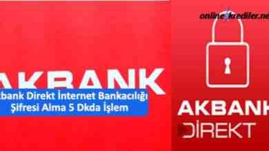 Photo of Akbank Direkt İnternet Bankacılığı Şifresi Alma 5 Dkda İşlem