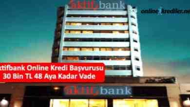 Photo of Aktifbank Online Kredi Başvurusu 30 Bin TL 60 Aya Kadar Vade