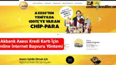 Photo of Akbank Axess Kredi Kartı İçin Online İnternet Başvuru Yöntemi