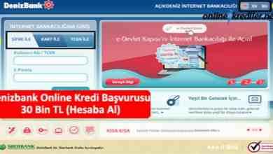 Photo of Denizbank Online Kredi Başvurusu 30 Bin TL (Hesaba Al)