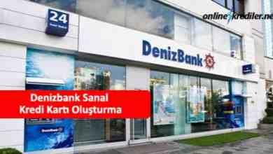 Photo of Denizbank Sanal Kredi Kartı Oluşturma