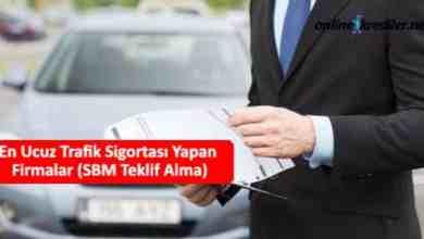 Photo of En Ucuz Trafik Sigortası Yapan Firmalar (SBM Teklif Alma)