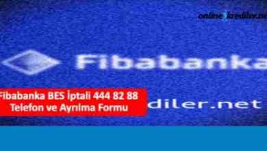 Photo of Fibabanka Emeklilik BES İptali 444 82 88 Telefon Ayrılma Formu