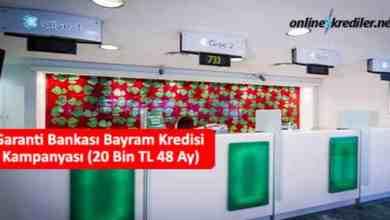 Photo of Garanti Bankası Bayram Kredisi Kampanyası (20 Bin TL 60 Ay)