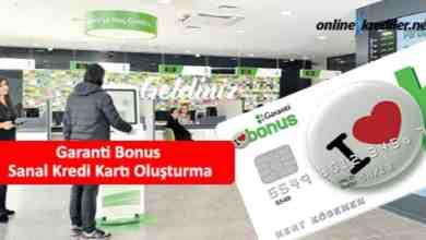Photo of Garanti Bonus Sanal Kredi Kartı Oluşturma
