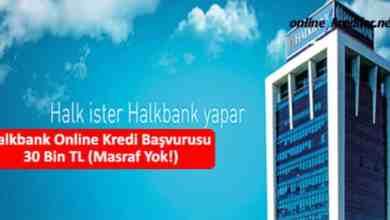 Photo of Halkbank Online Kredi Başvurusu 30 Bin TL (Masraf Yok!)