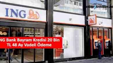 Photo of ING Bank Bayram Kredisi 20 Bin TL 60 Ay Vadeli Ödeme