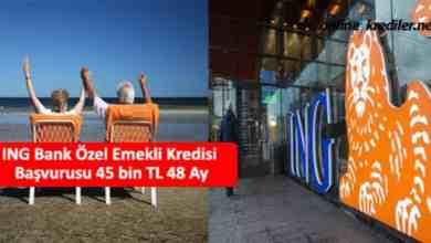 Photo of ING Bank Özel Emekli Kredisi Başvurusu 45 bin TL 60 Ay