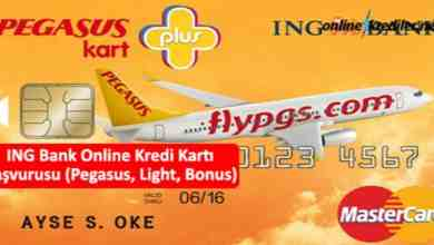 Photo of ING Bank Online Kredi Kartı Başvurusu (Pegasus, Light, Bonus)