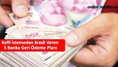 Photo of Kefil İstemeden Kredi Veren 5 Banka Ödeme Planı 2021
