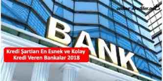 kredi sartlari en esnek ve kolay kredi veren bankalar