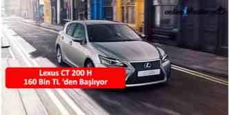 lexus ct 200h hibrit 160 bin tl