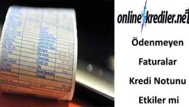 Photo of Ödenmeyen Faturalar Kredi Notunu Etkiler mi